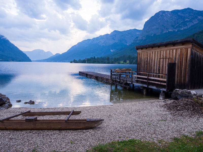 Озеро Grundlsee стоковые фото