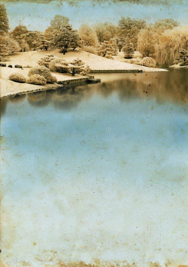 озеро grunge предпосылки стоковое фото rf