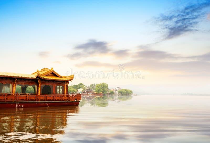 озеро hangzhou фарфора западное стоковое изображение