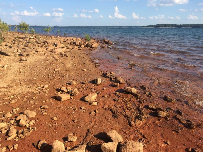 Озеро Hartwell стоковое фото rf