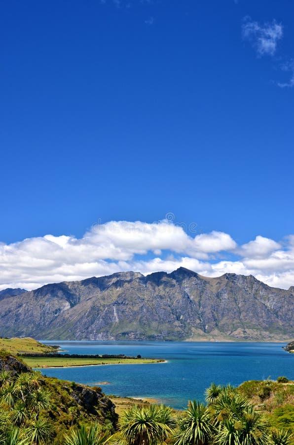 Озеро Hawea Нов стоковое изображение rf
