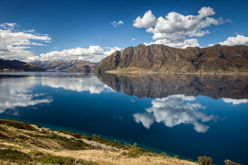 Озеро Hawea стоковые изображения