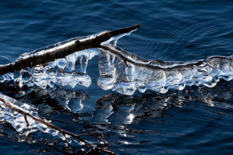 озеро icicles стоковая фотография