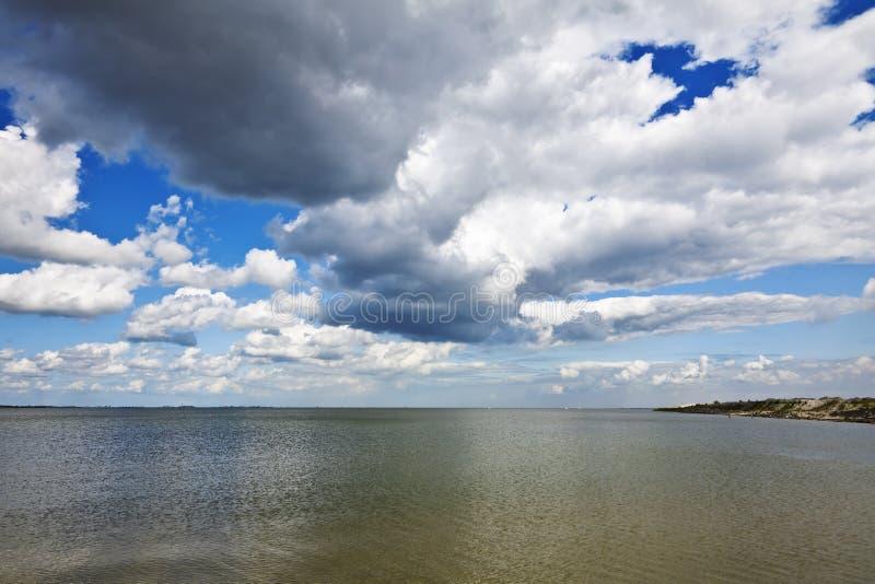 озеро ijsselmeer стоковое изображение
