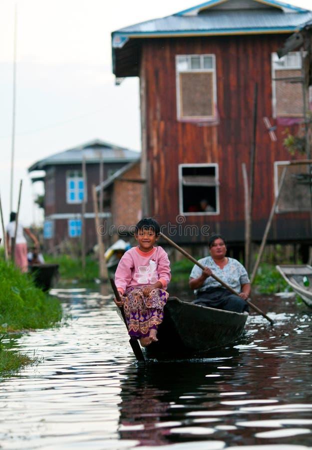 Озеро Inle в положении Шани, Мьянме стоковые изображения rf