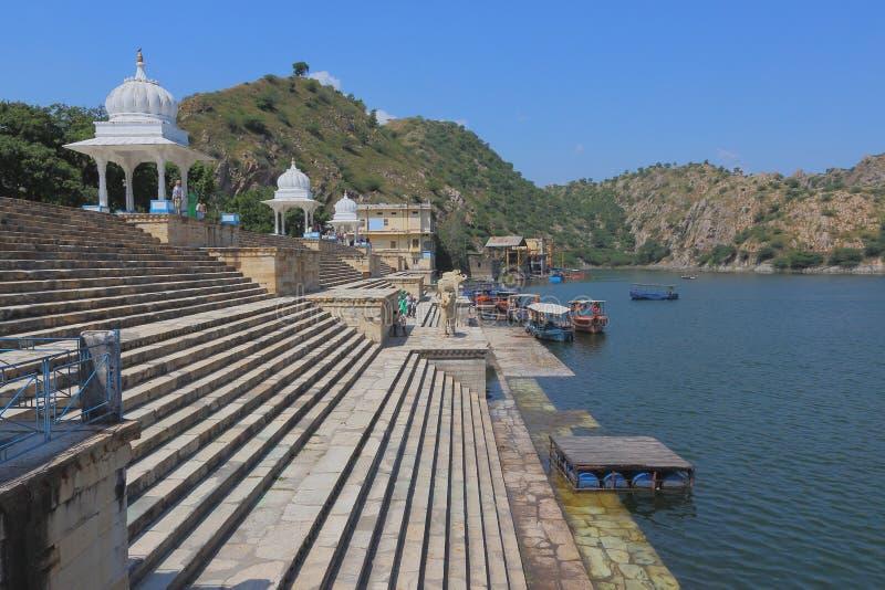 Озеро Jaisamand, Раджастхан, Индия стоковое фото