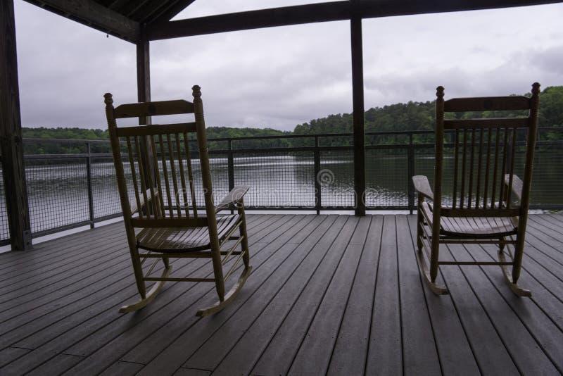 Озеро Johnston в раннем утре стоковые фотографии rf