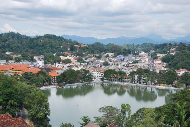 озеро kandy города центра стоковая фотография rf