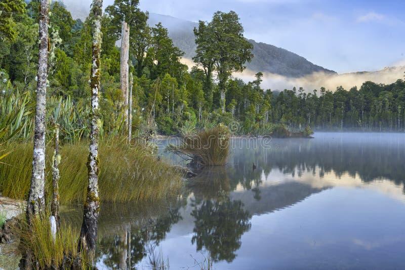 Озеро Kaniere стоковое изображение