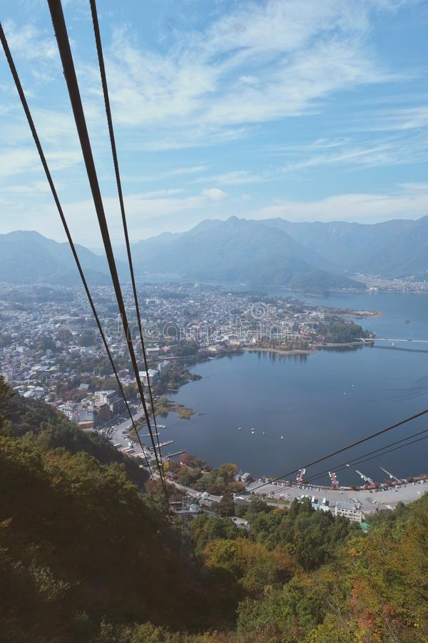 Озеро Kawaguchi стоковые изображения