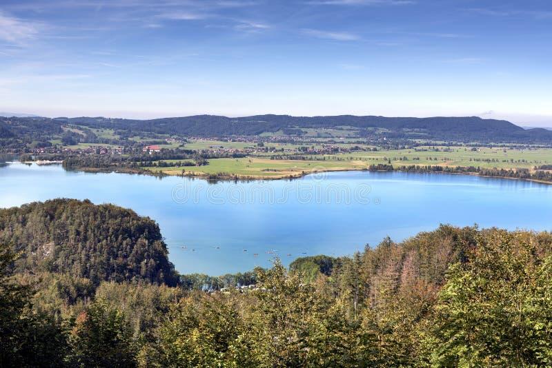Озеро Kochelsee в Баварии, Германии стоковые фото