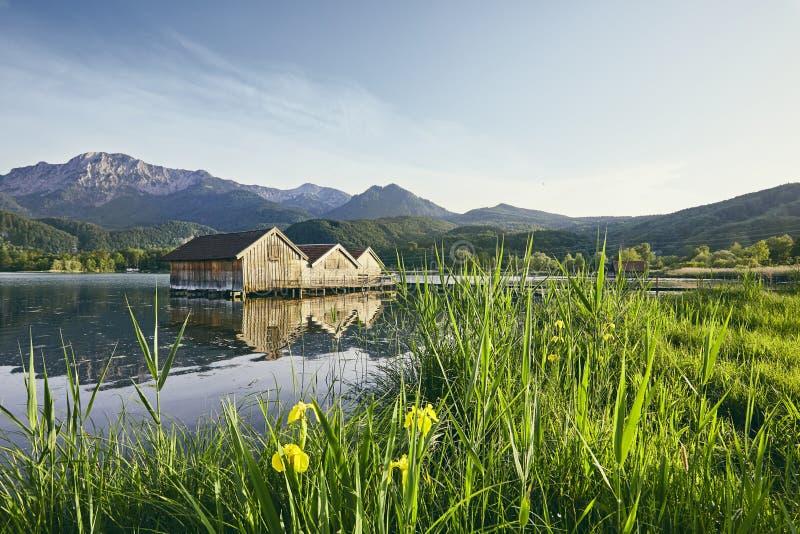 Озеро Kochelsee в Германии стоковое фото