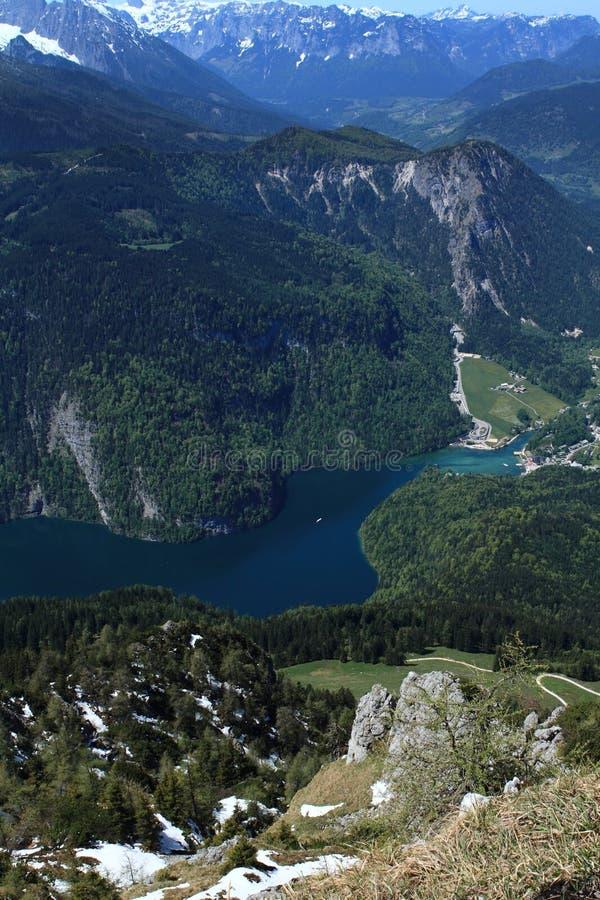 Озеро Konigsee в Германии стоковое изображение rf