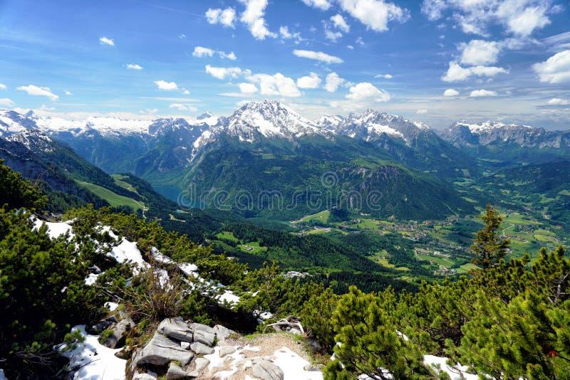 Озеро Konigssee в Баварии стоковое изображение rf