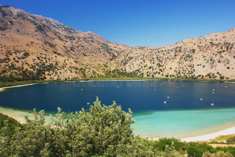 Озеро Kourna, Крит стоковая фотография rf