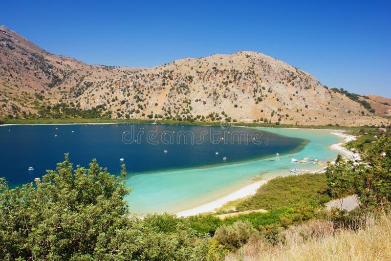 Озеро Kourna, Крит стоковые фотографии rf