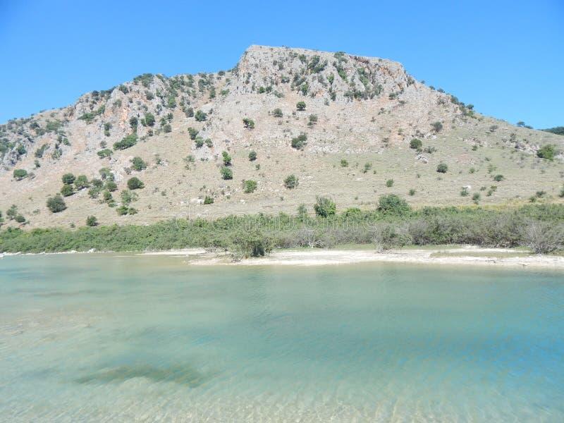 озеро kournas Крита стоковое изображение rf