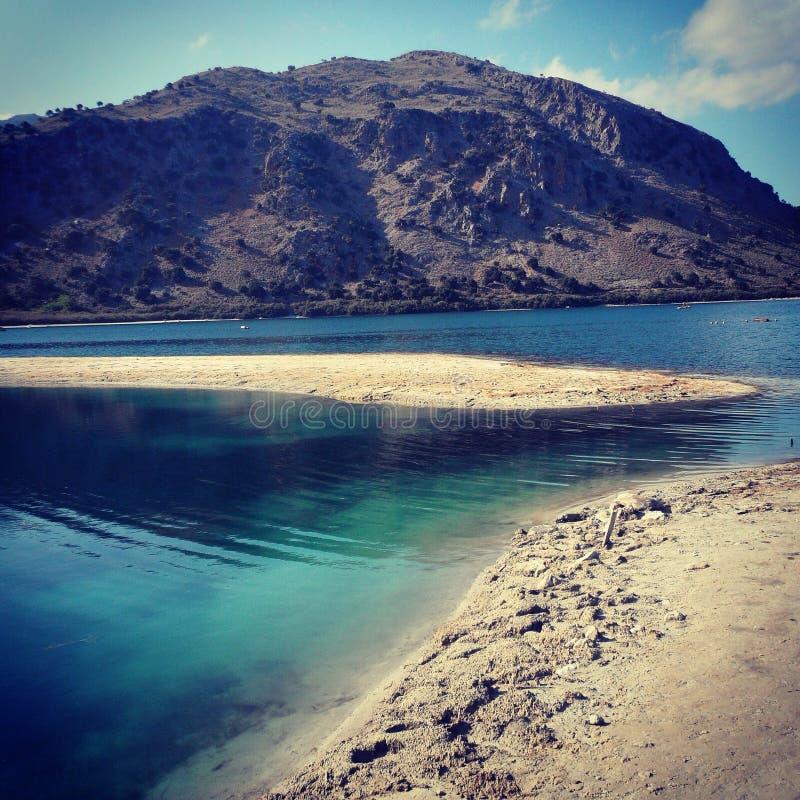 Озеро Kournas, Крит стоковая фотография rf