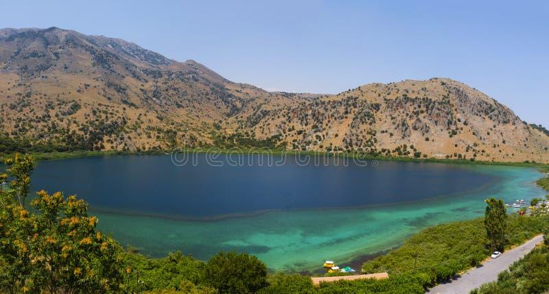 Озеро Kournas стоковая фотография rf