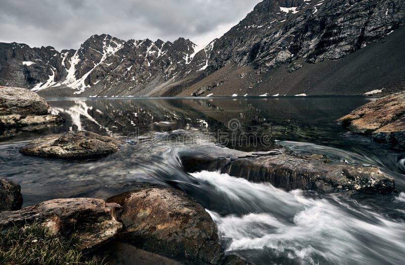 Озеро Kul алы в Кыргызстане стоковая фотография