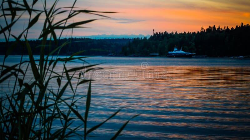 озеро ladoga стоковая фотография rf