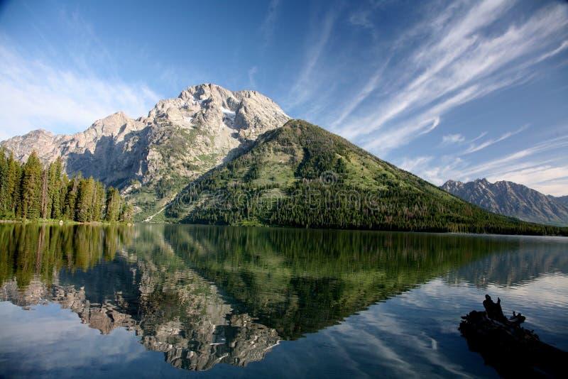 Озеро GTNP Leigh стоковая фотография rf