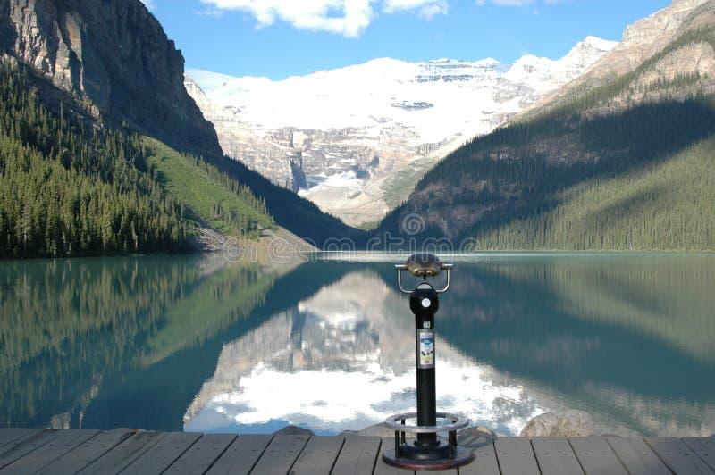 озеро louise Канады стоковое изображение rf