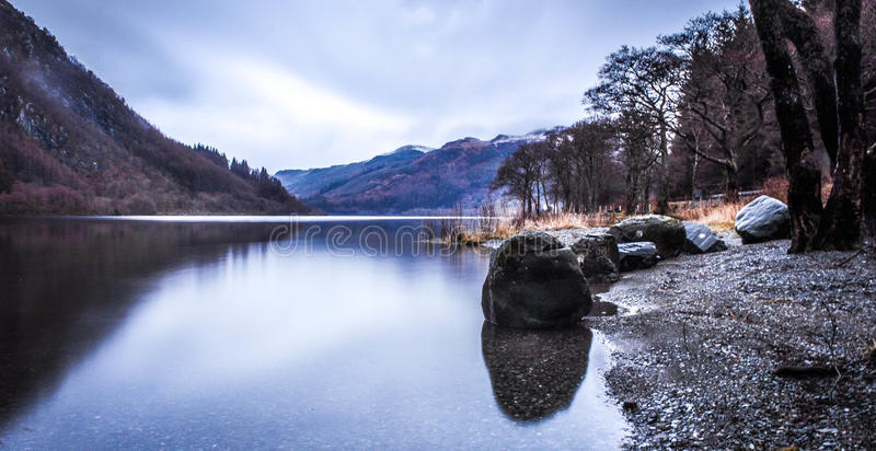 Озеро Lubnaig Шотландия стоковое изображение rf