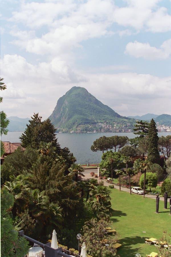 озеро Lugano Стоковые Фото