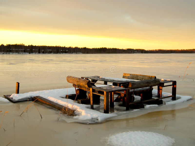 Озеро Lulea стоковые изображения