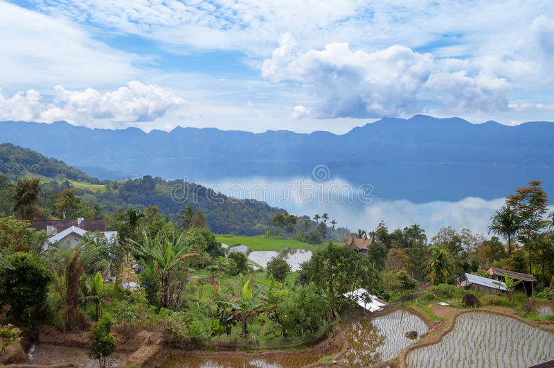 Озеро Maninjau (Danau Maninjau) стоковое изображение