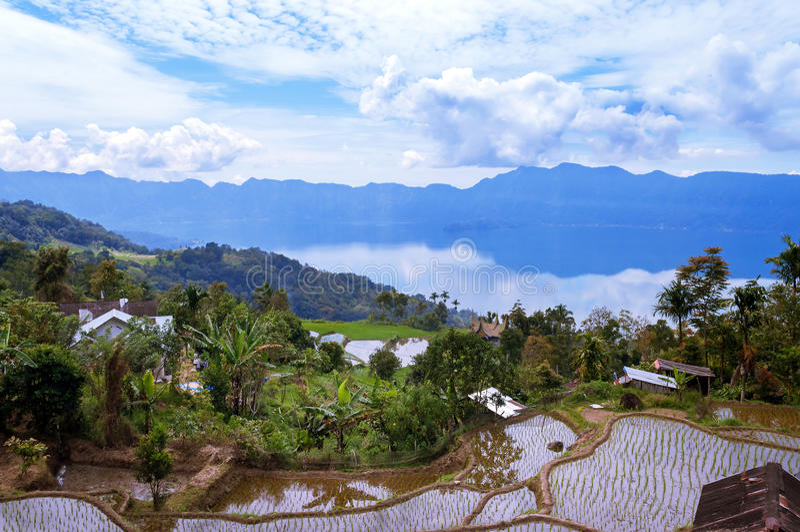 Озеро Maninjau (Danau Maninjau) стоковая фотография