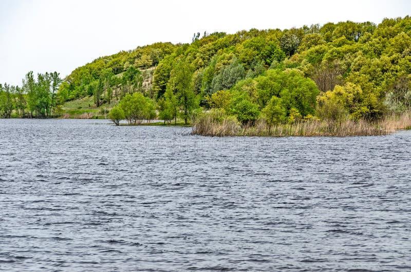 Озеро Manistee весной стоковое изображение