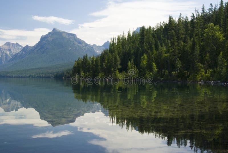 озеро mcdonald стоковая фотография rf