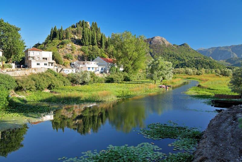 озеро montenegro подпора skadar стоковые изображения rf