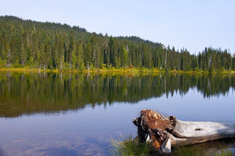 Озеро Mowich в штате Вашингтоне стоковое фото