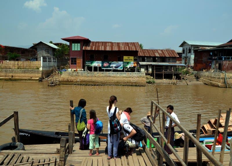 озеро myanmar inle стоковые фотографии rf