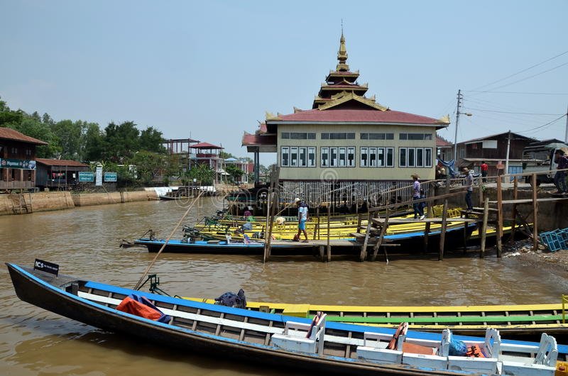 озеро myanmar inle стоковая фотография