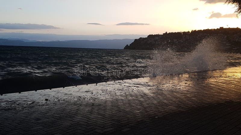 Озеро Ohrid стоковое фото rf