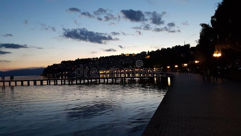 Озеро Ohrid стоковая фотография rf