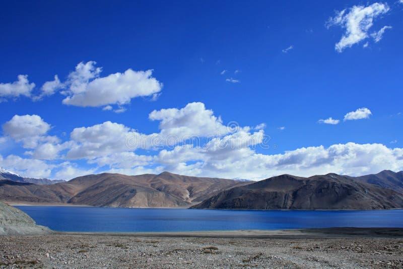 Озеро Pangong в ladakh стоковые фото