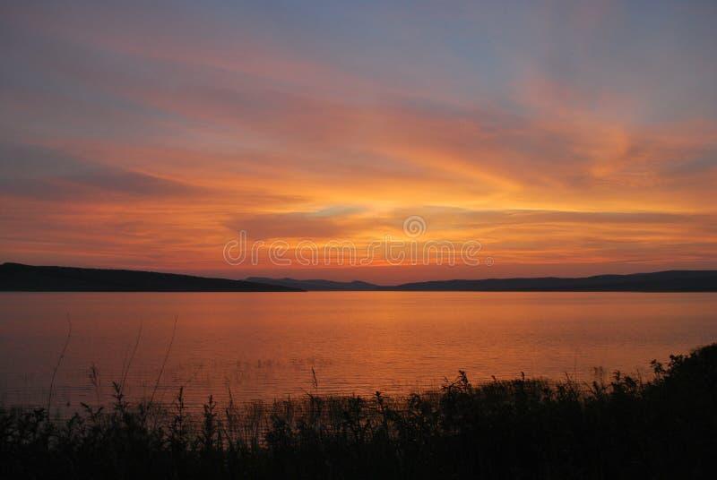 Озеро Parnoe в Сибире стоковые изображения rf