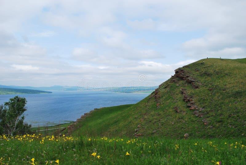 Озеро Parnoe в Сибире стоковая фотография