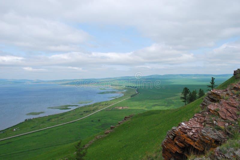 Озеро Parnoe в Сибире стоковое фото rf