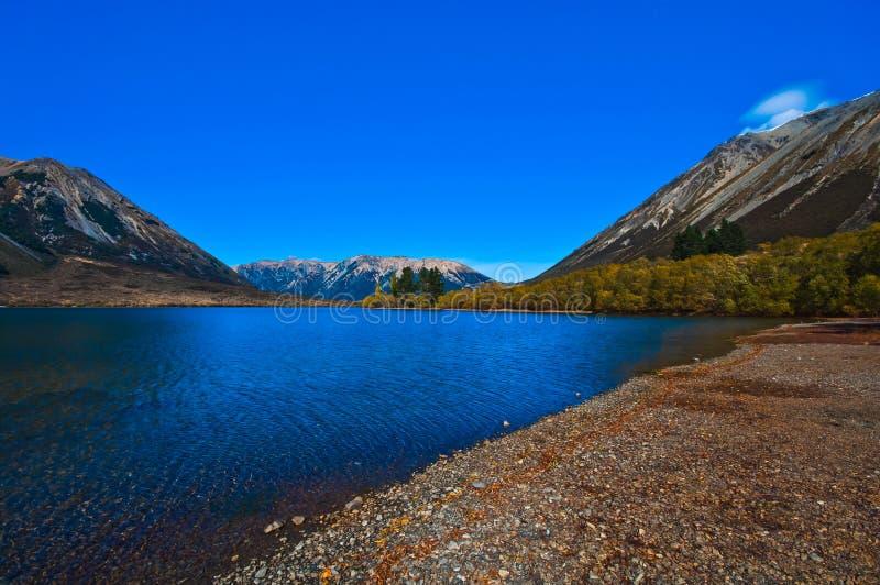Озеро Pearson, Новая Зеландия стоковое фото
