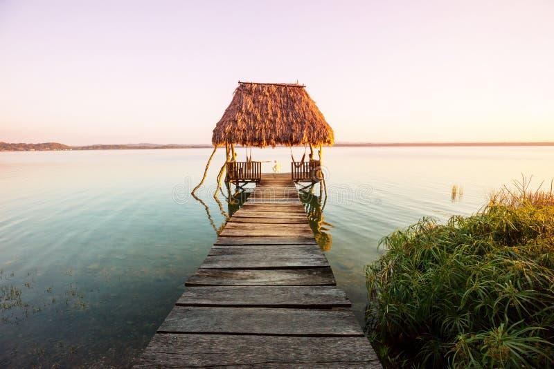 Озеро Peten стоковое изображение