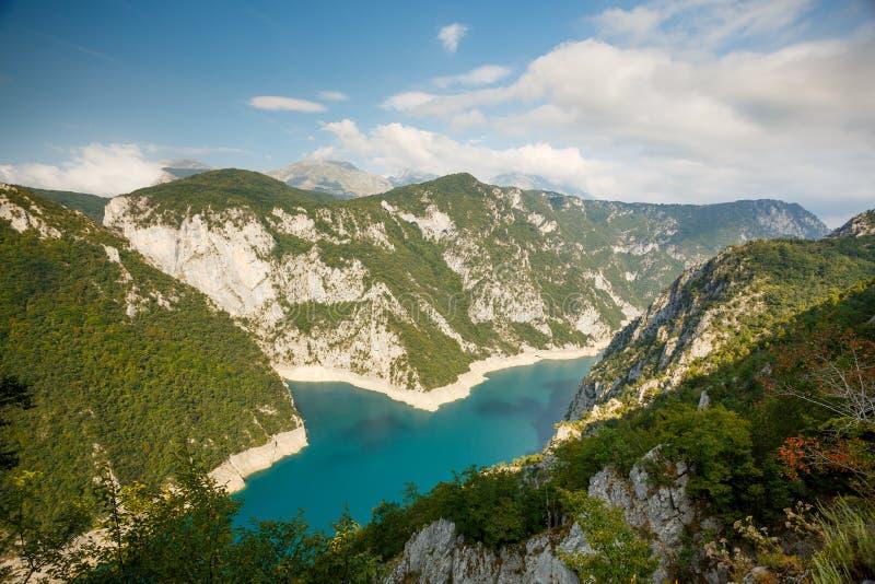 Озеро Piva, Черногория стоковая фотография