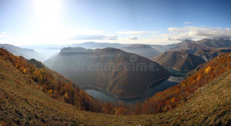 Озеро Piva стоковые изображения