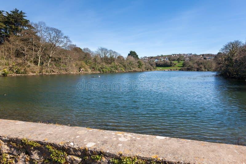 Озеро Plymstock Плимут Девон Англия Hooe стоковые изображения