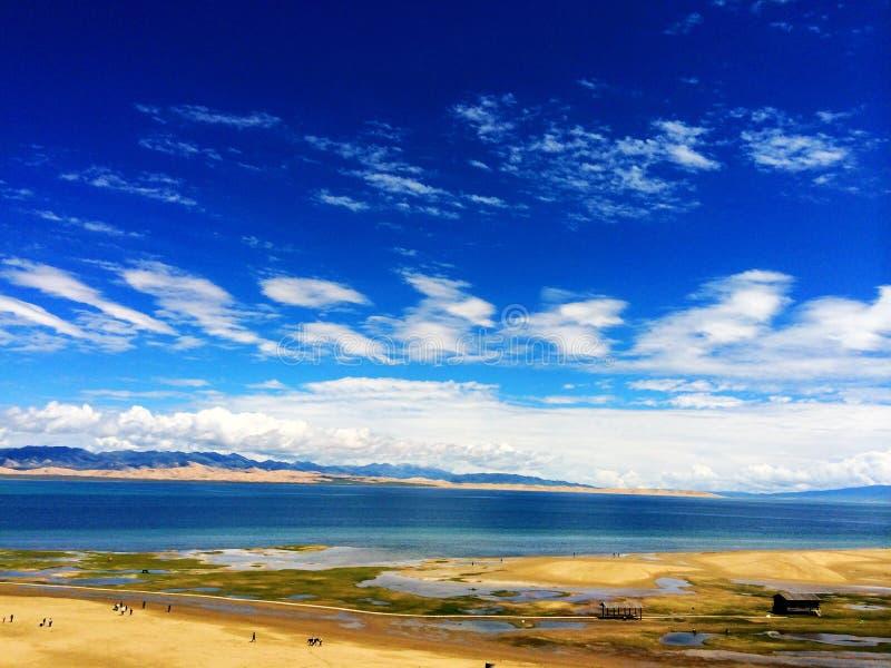озеро qinghai стоковое фото rf